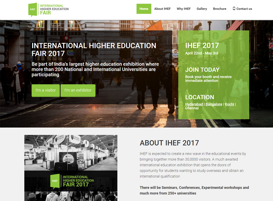 IHEF 2017-India's largest higher education exhibition
